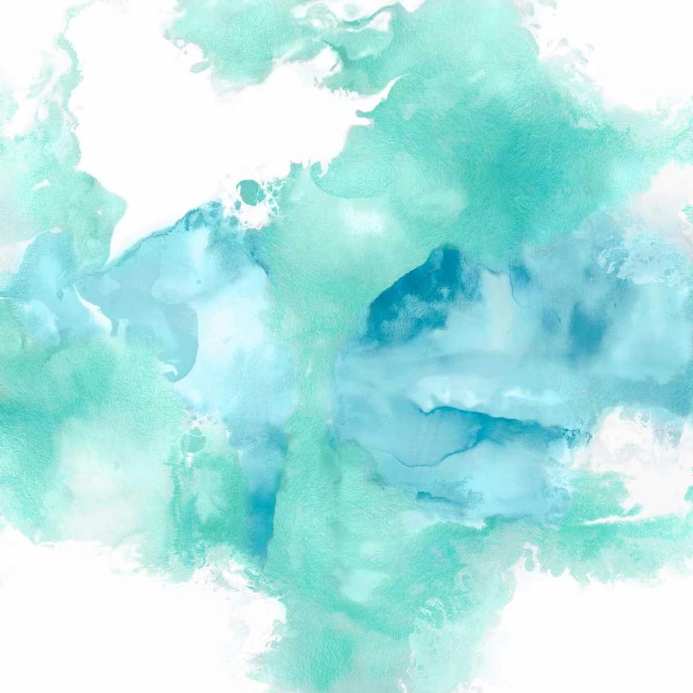 konfigurieren des Kunstdrucks in Wunschgröße Ascending in Aqua von Hudson, Daniela