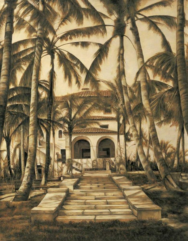 konfigurieren des Kunstdrucks in Wunschgröße Entry to Villa von Parks, David