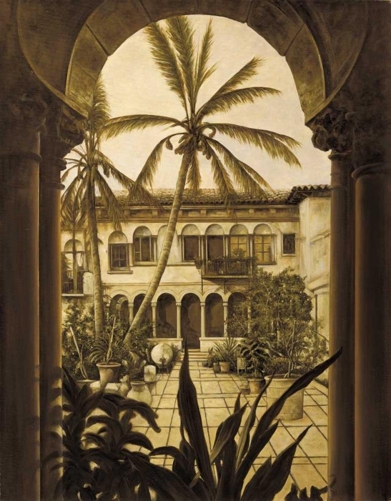 konfigurieren des Kunstdrucks in Wunschgröße View to the Courtyard von Parks, David