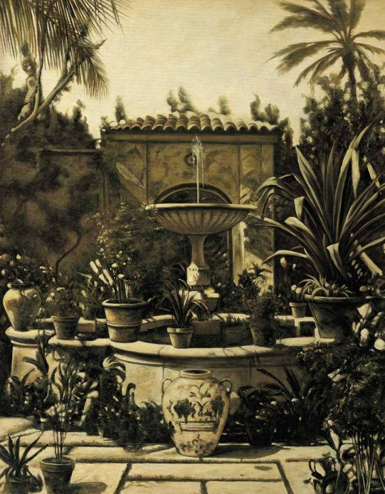 konfigurieren des Kunstdrucks in Wunschgröße Courtyard Fountain von Parks, David