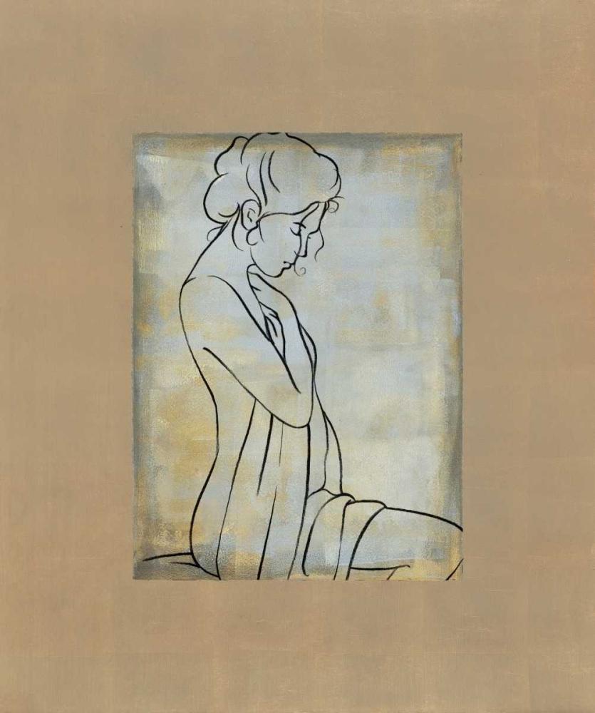konfigurieren des Kunstdrucks in Wunschgröße Femme assise I von Bennion, Dan