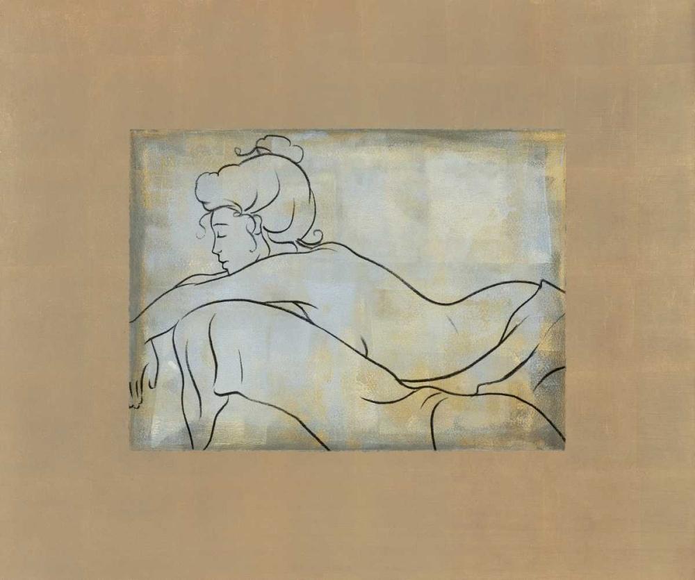 konfigurieren des Kunstdrucks in Wunschgröße Femme allongee von Bennion, Dan