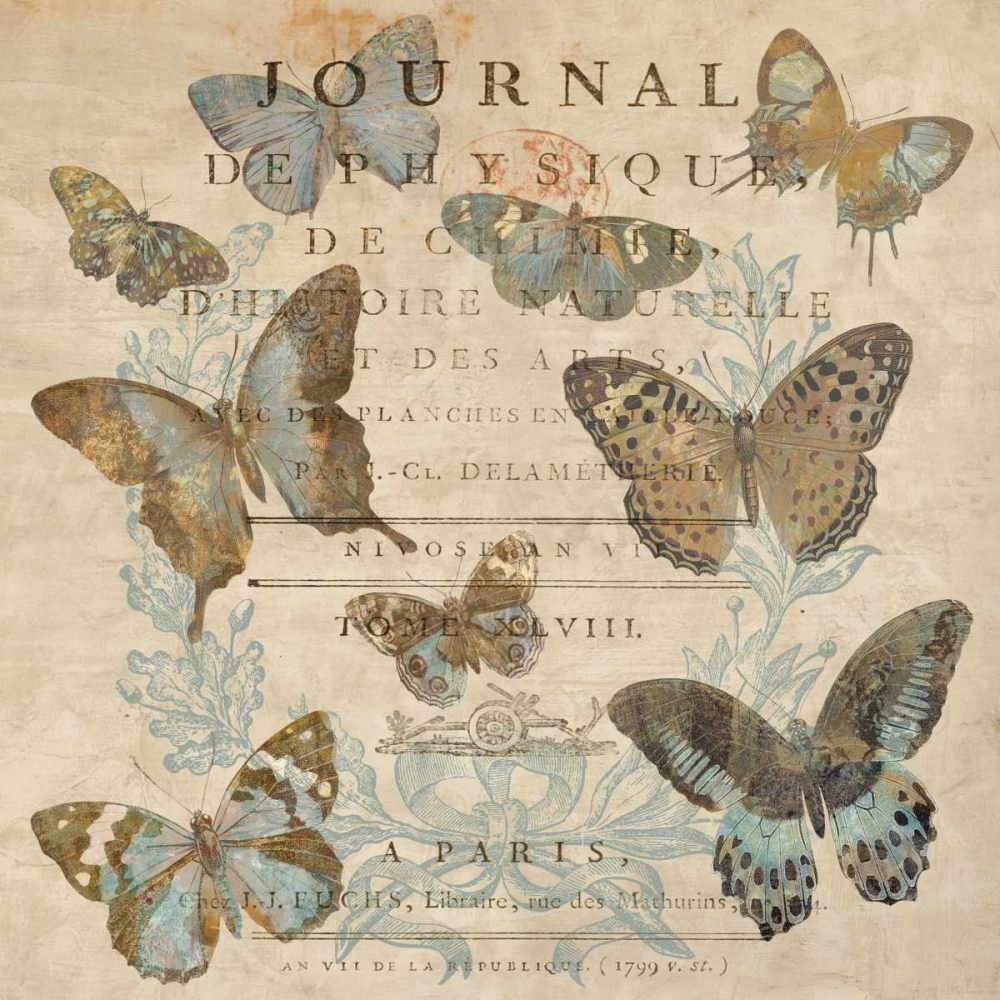 konfigurieren des Kunstdrucks in Wunschgröße Papillion I von Devellier, Deborah