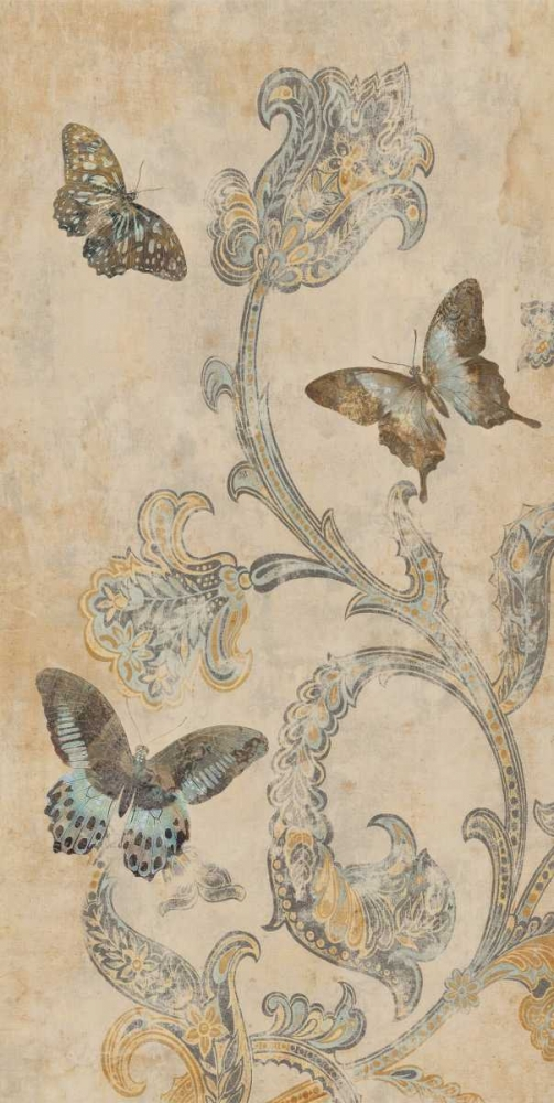 konfigurieren des Kunstdrucks in Wunschgröße Papillion Decoratif I von Devellier, Deborah