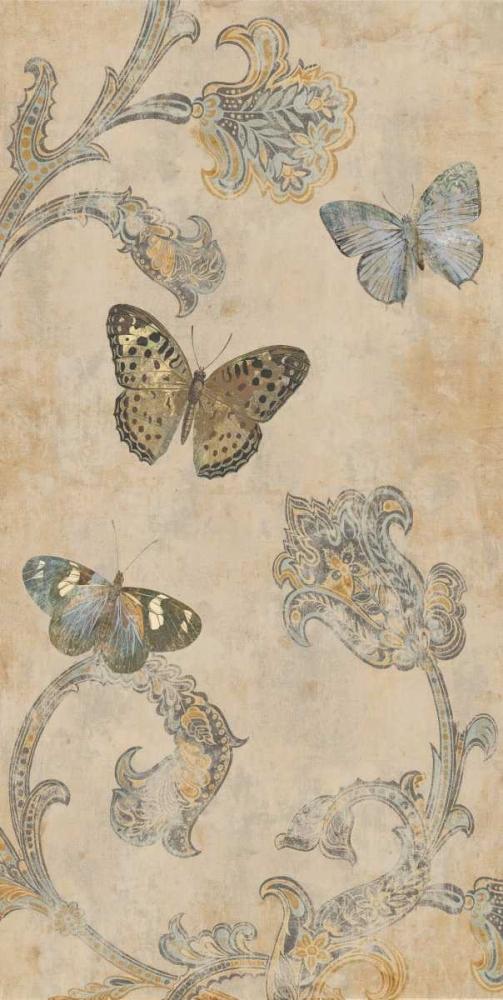 konfigurieren des Kunstdrucks in Wunschgröße Papillion Decoratif II von Devellier, Deborah