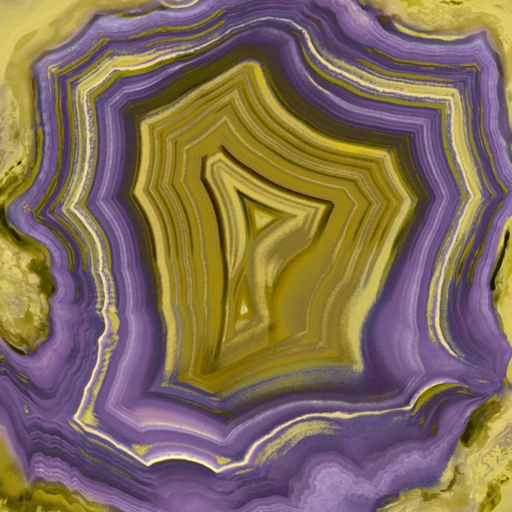 konfigurieren des Kunstdrucks in Wunschgröße Agate in Purple and Gold I von Carson, Danielle