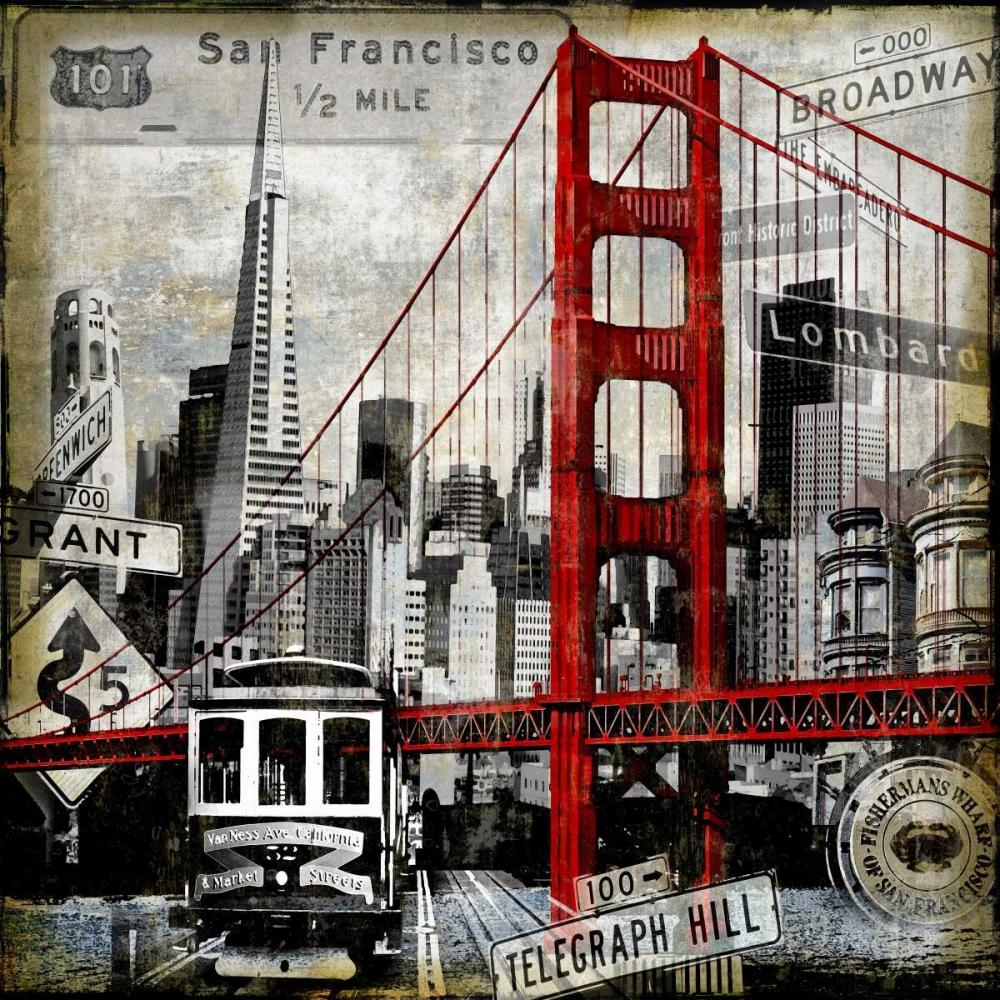 konfigurieren des Kunstdrucks in Wunschgröße Landmarks San Francisco von Matthews, Dylan