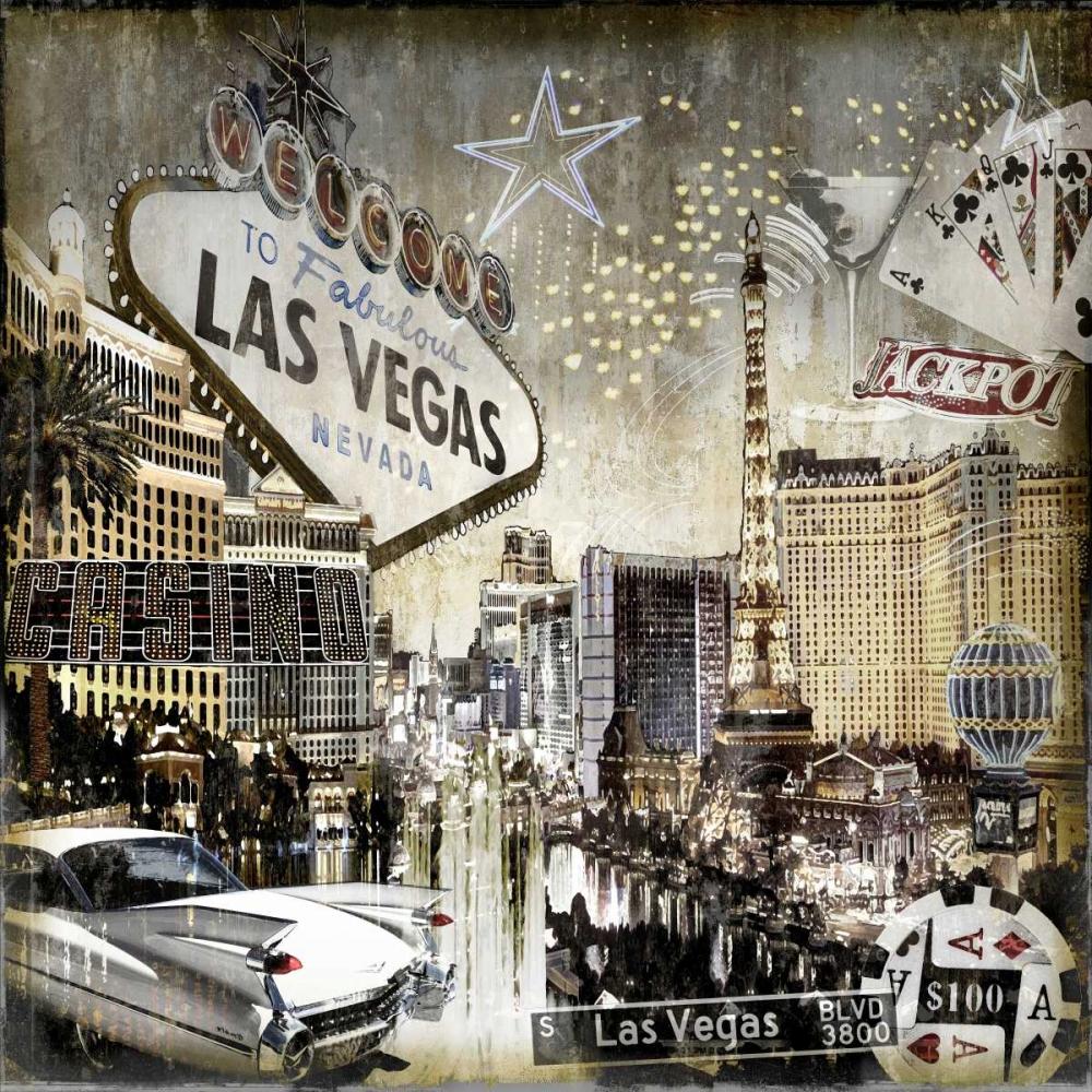 konfigurieren des Kunstdrucks in Wunschgröße Las Vegas von Matthews, Dylan