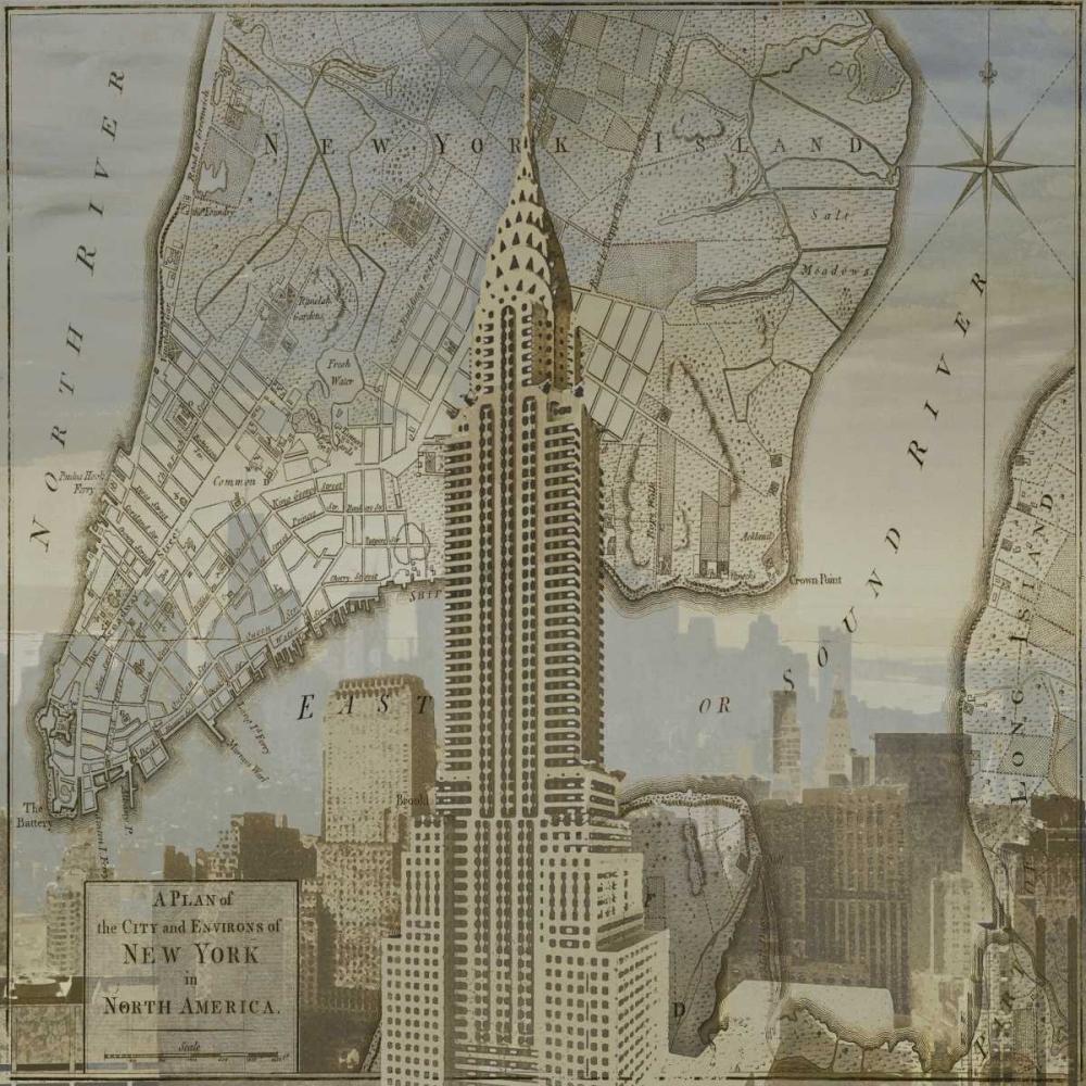 konfigurieren des Kunstdrucks in Wunschgröße Vintage NYC II von Matthews, Dylan