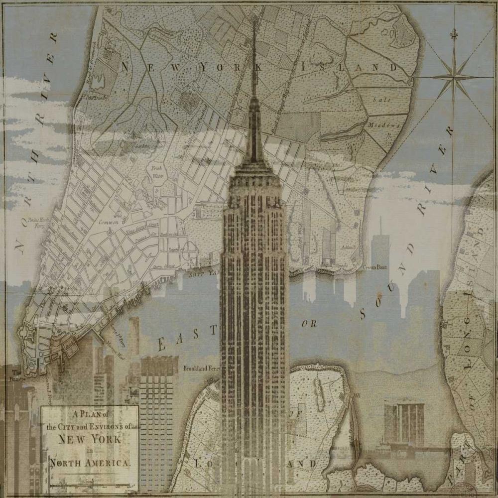 konfigurieren des Kunstdrucks in Wunschgröße Vintage NYC I von Matthews, Dylan