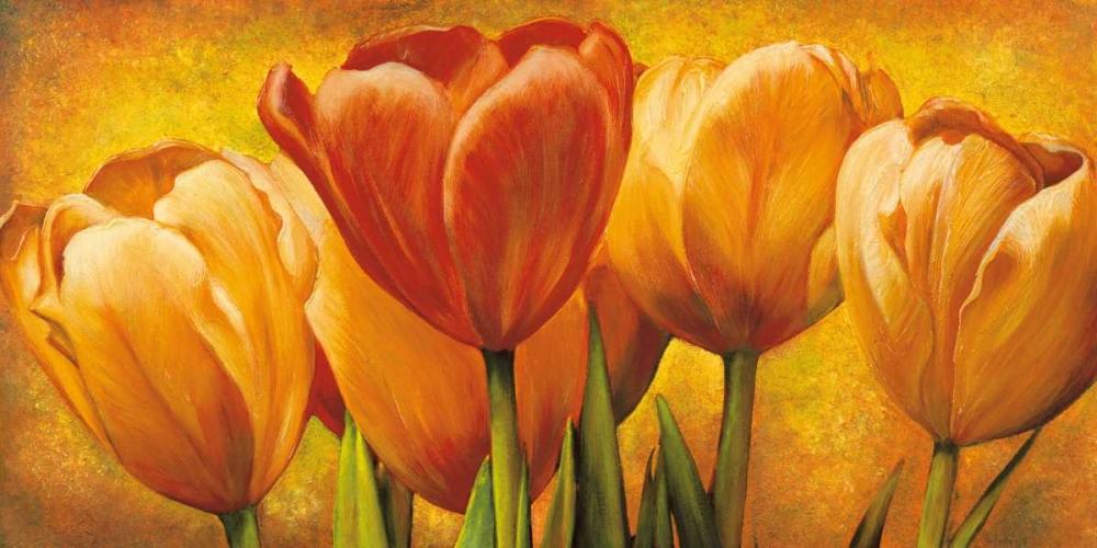konfigurieren des Kunstdrucks in Wunschgröße Bouquet of orange tulips von Pedersen, David