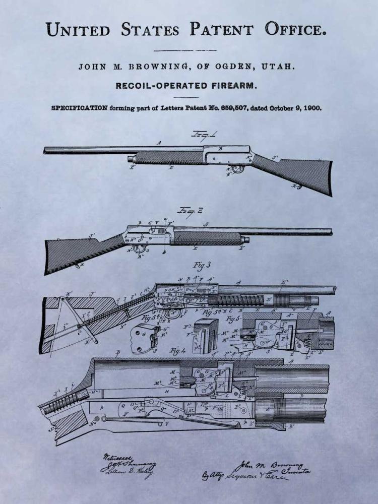 konfigurieren des Kunstdrucks in Wunschgröße Browning Recoil Firearm - 1900 von Sproul, Dan