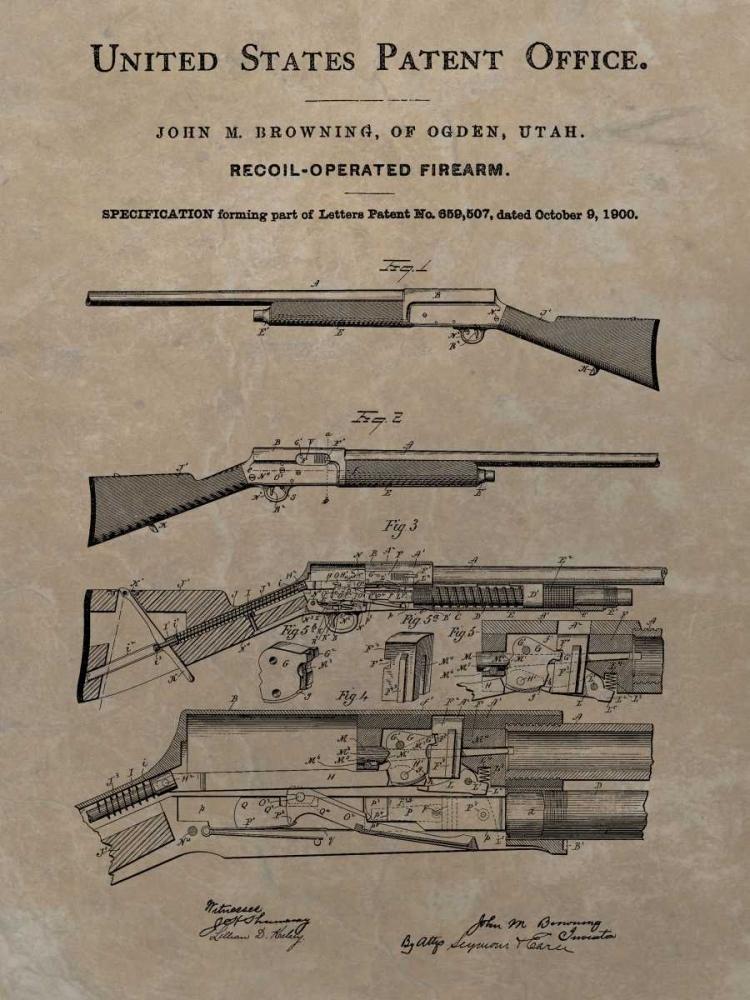konfigurieren des Kunstdrucks in Wunschgröße Browning Recoil Firearm - 1900- von Sproul, Dan
