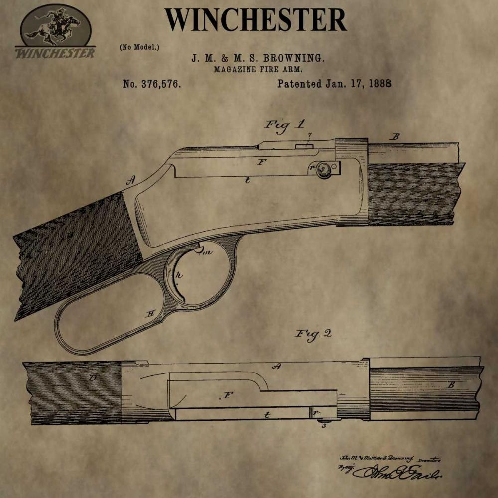 konfigurieren des Kunstdrucks in Wunschgröße Winchester Magazine Fire Arm, von Sproul, Dan