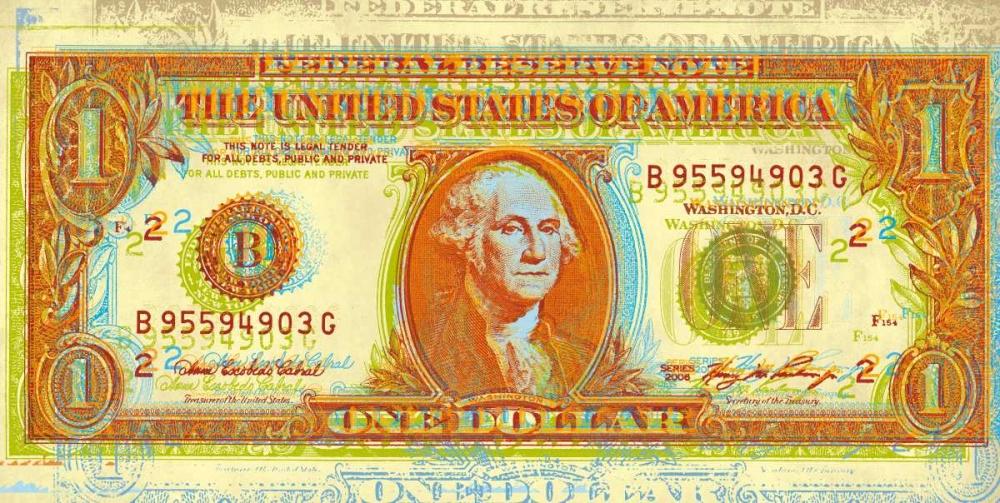 konfigurieren des Kunstdrucks in Wunschgröße Dollar Bill von Chambers, Dustin