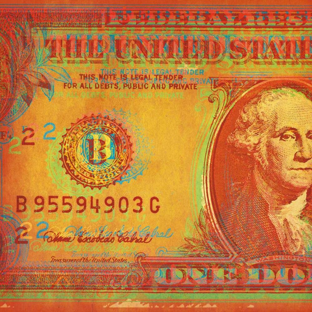 konfigurieren des Kunstdrucks in Wunschgröße One Buck I von Chambers, Dustin