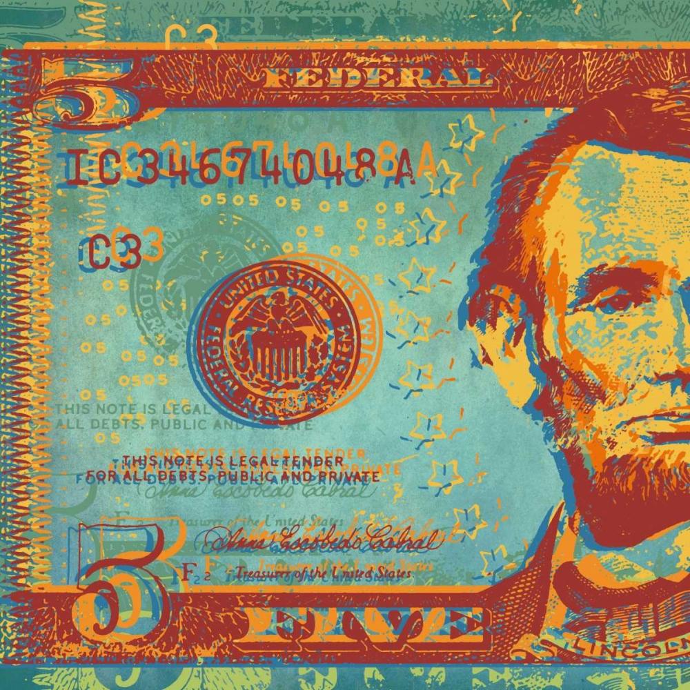 konfigurieren des Kunstdrucks in Wunschgröße Five Bucks I von Chambers, Dustin