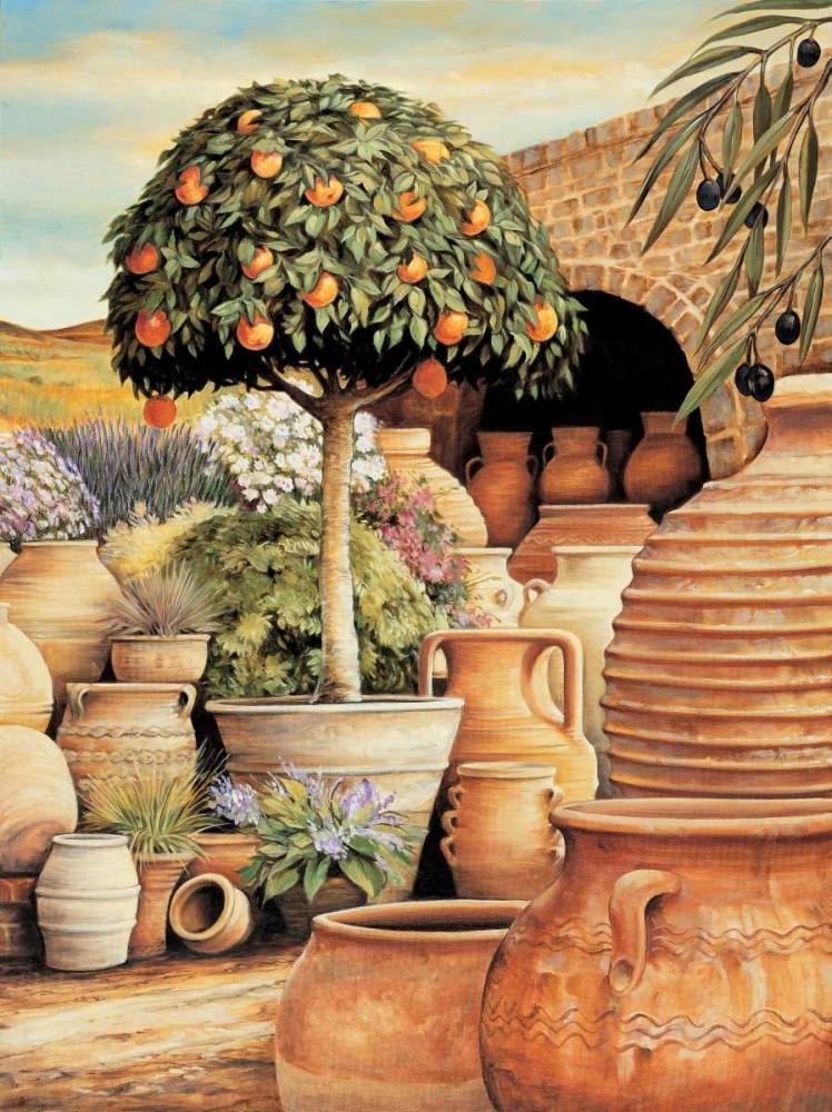 konfigurieren des Kunstdrucks in Wunschgröße Orange Topiary von Eduardo