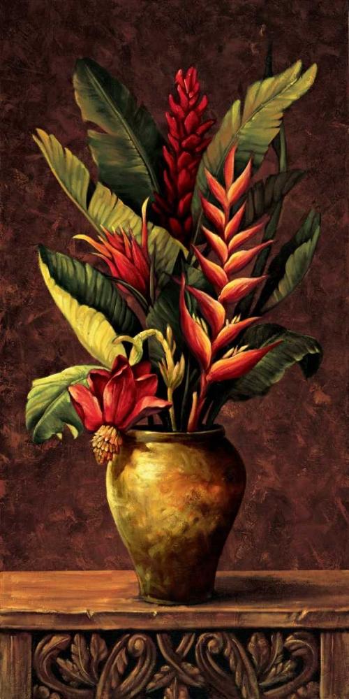 konfigurieren des Kunstdrucks in Wunschgröße Tropical Arrangement I von Eduardo