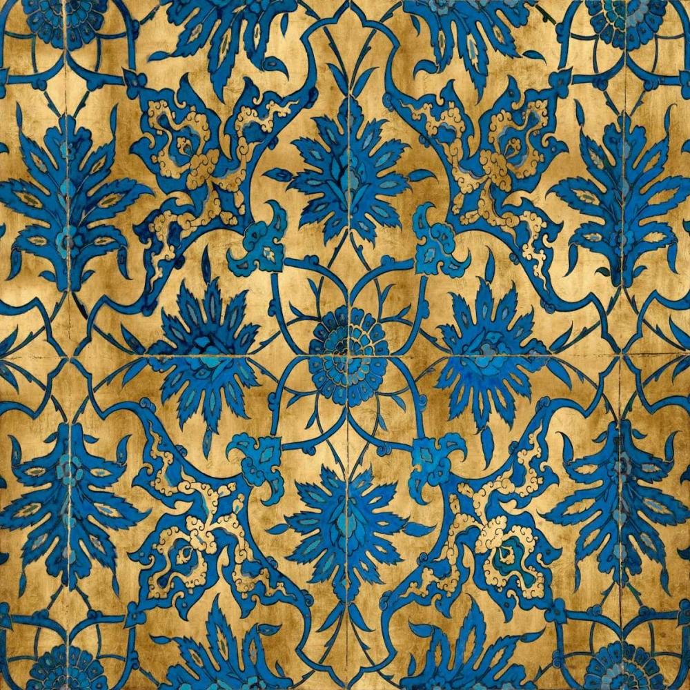 konfigurieren des Kunstdrucks in Wunschgröße Ornate In Gold and Blue von Roberts, Ellie