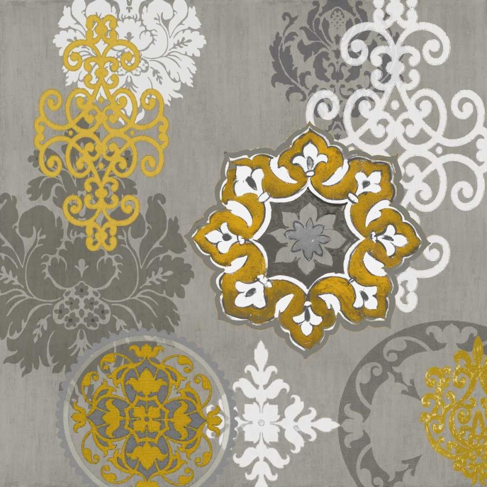 konfigurieren des Kunstdrucks in Wunschgröße Decorative Ornaments In Gold I von Roberts, Ellie