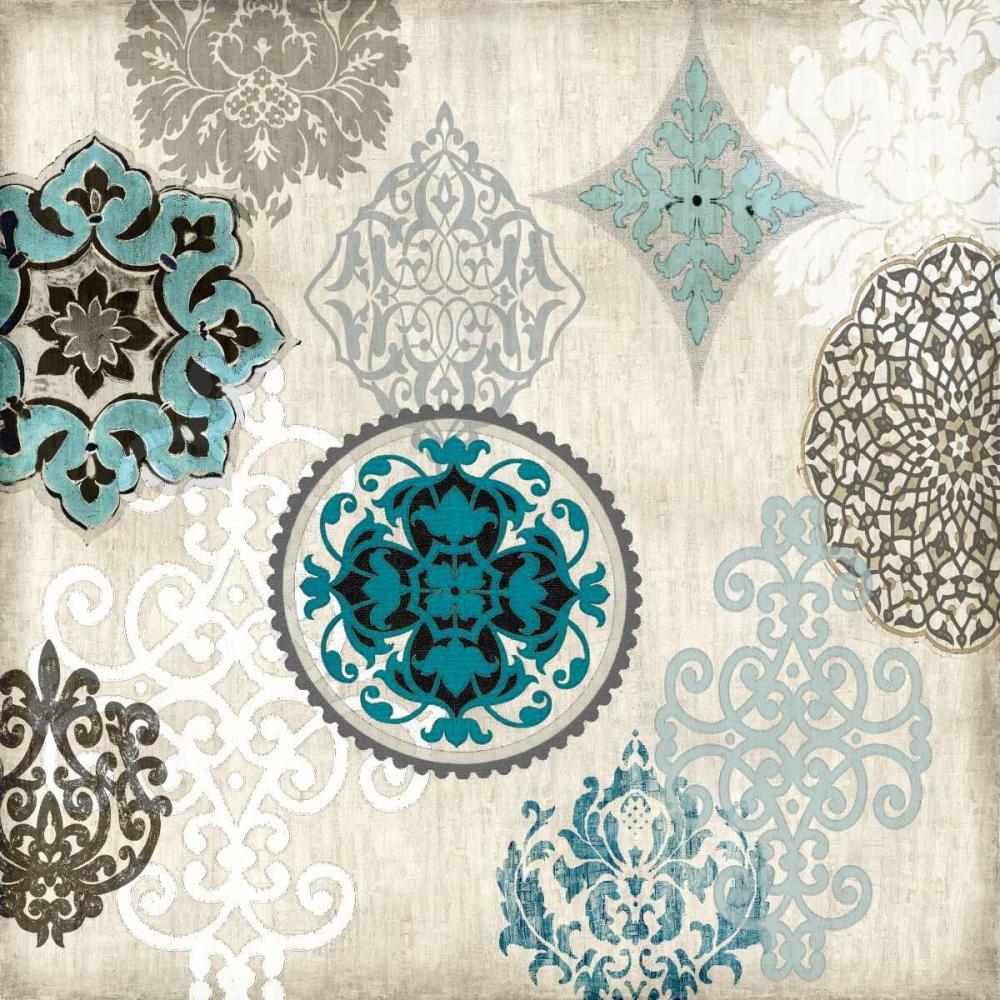 konfigurieren des Kunstdrucks in Wunschgröße Decorative Blue Ornaments II von Roberts, Ellie