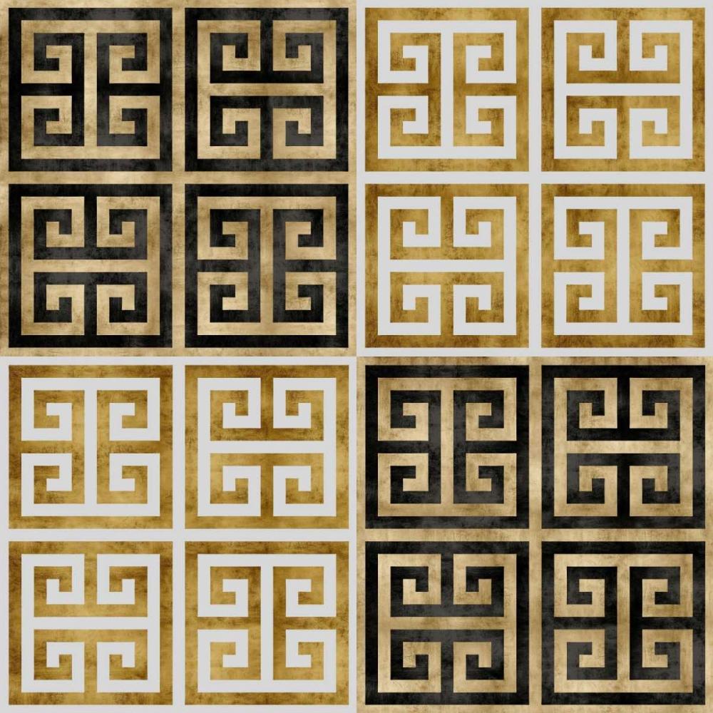 konfigurieren des Kunstdrucks in Wunschgröße Greek Key I von Roberts, Ellie