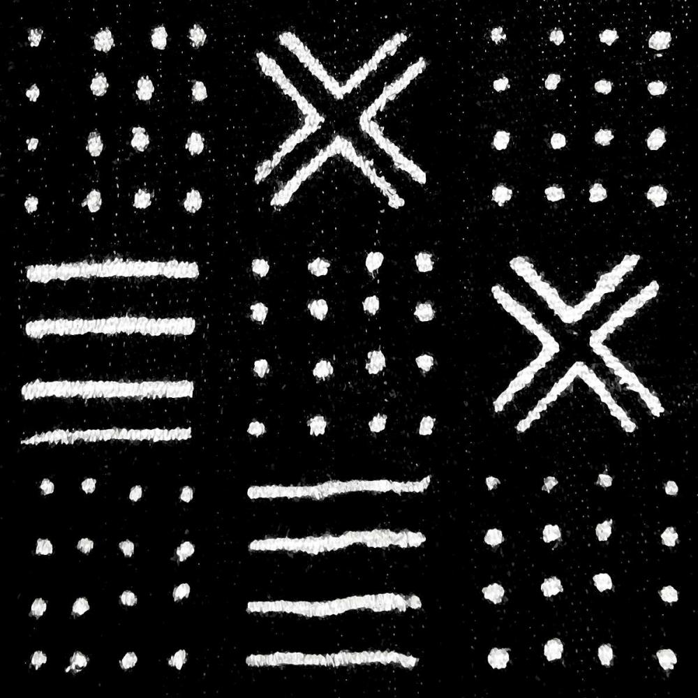 konfigurieren des Kunstdrucks in Wunschgröße Mudcloth Black II von Roberts, Ellie