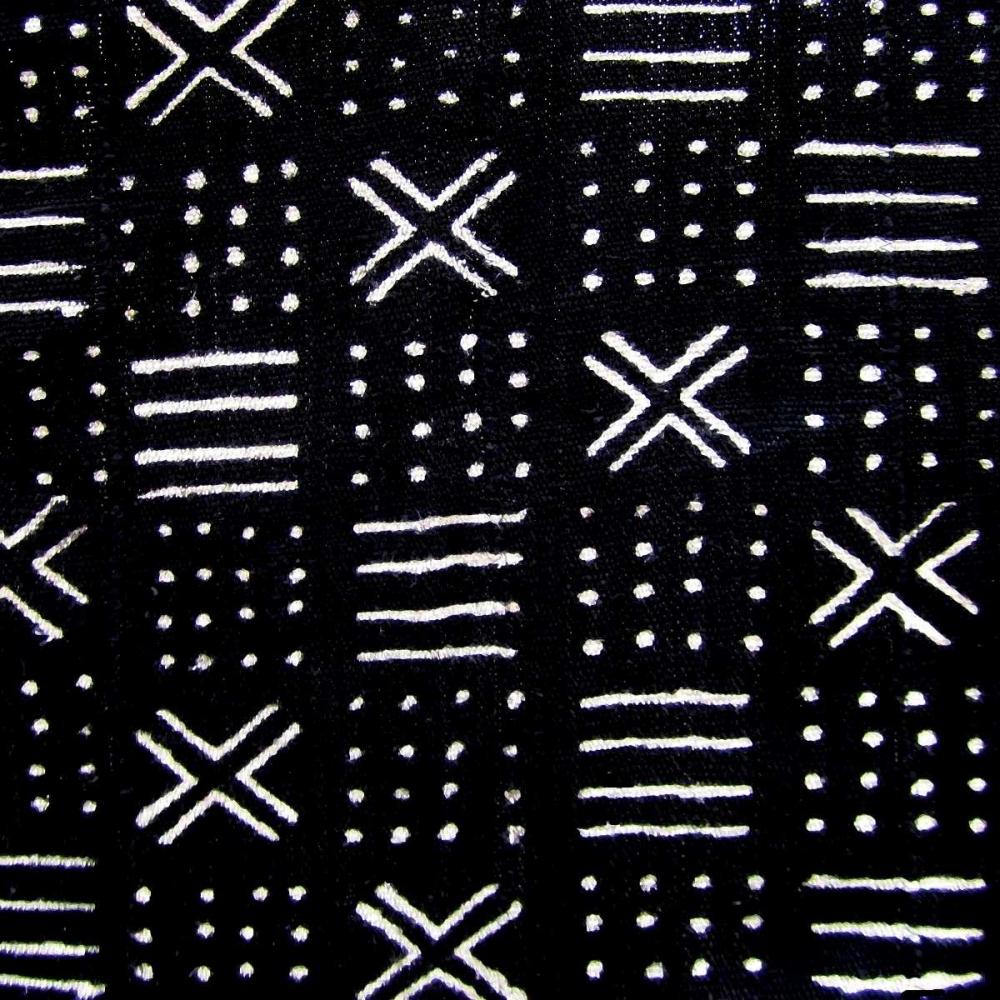 konfigurieren des Kunstdrucks in Wunschgröße Mudcloth Black III von Roberts, Ellie