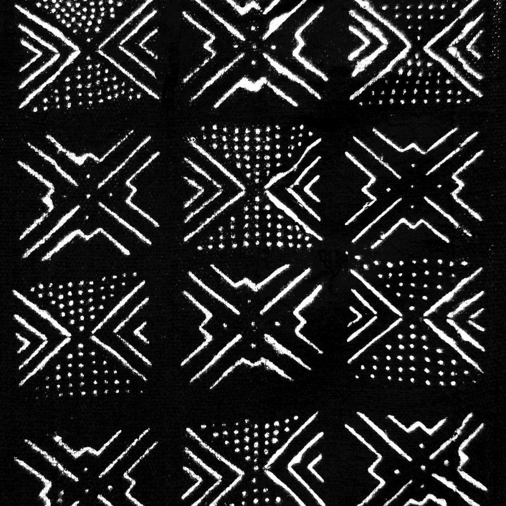 konfigurieren des Kunstdrucks in Wunschgröße Mudcloth Black IV von Roberts, Ellie