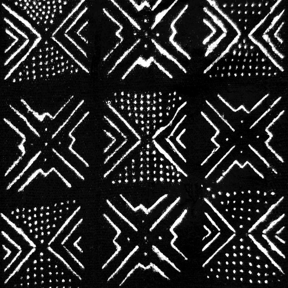 konfigurieren des Kunstdrucks in Wunschgröße Mudcloth Black V von Roberts, Ellie
