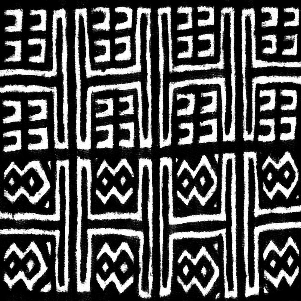 konfigurieren des Kunstdrucks in Wunschgröße Mudcloth Black VII von Roberts, Ellie