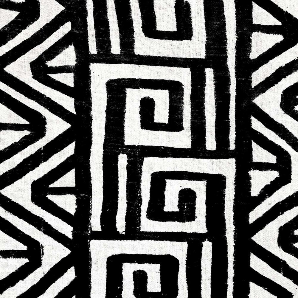 konfigurieren des Kunstdrucks in Wunschgröße Mudcloth Black VIII von Roberts, Ellie