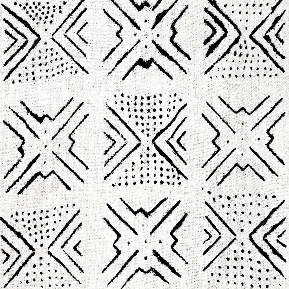 konfigurieren des Kunstdrucks in Wunschgröße Mudcloth White IV von Roberts, Ellie