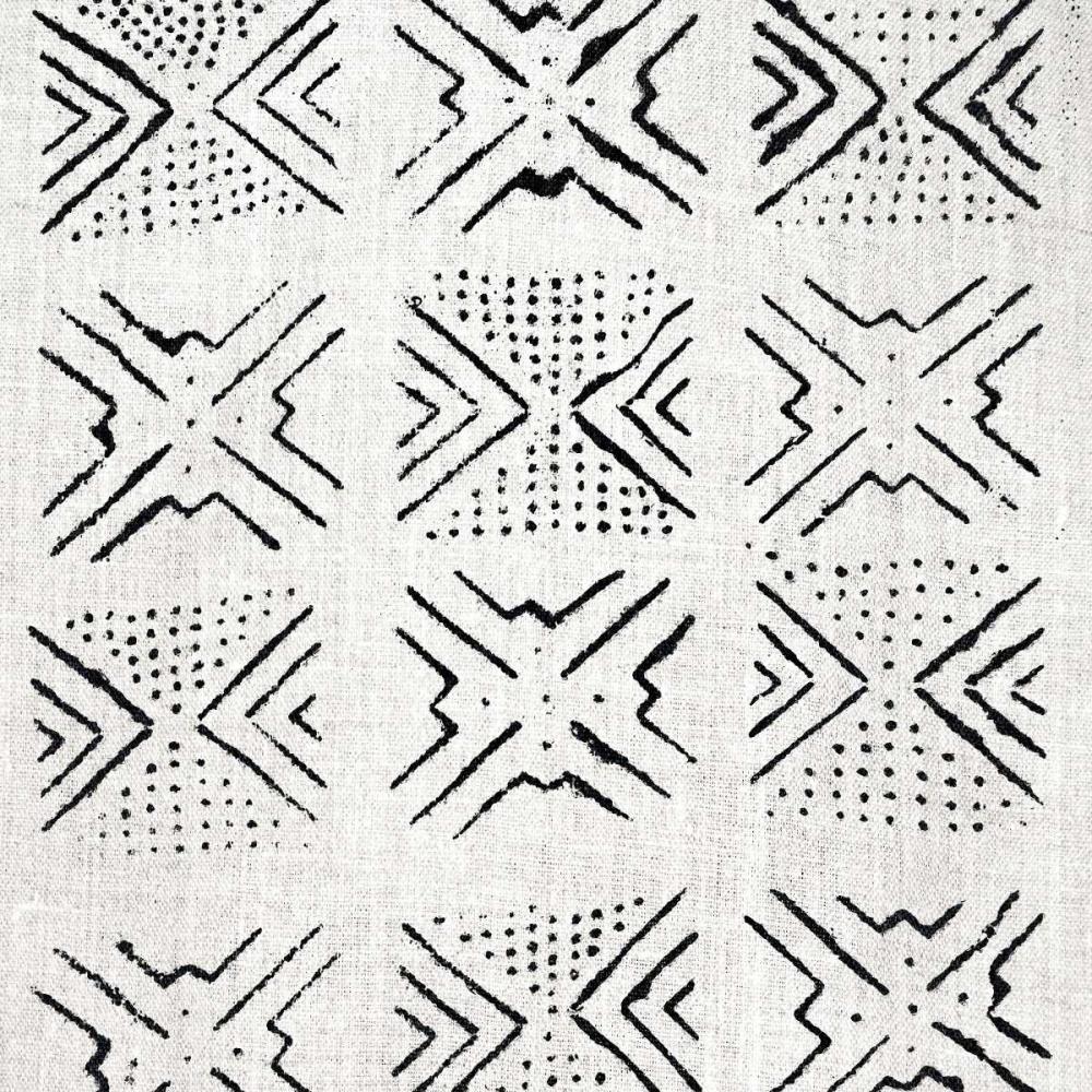 konfigurieren des Kunstdrucks in Wunschgröße Mudcloth White V von Roberts, Ellie