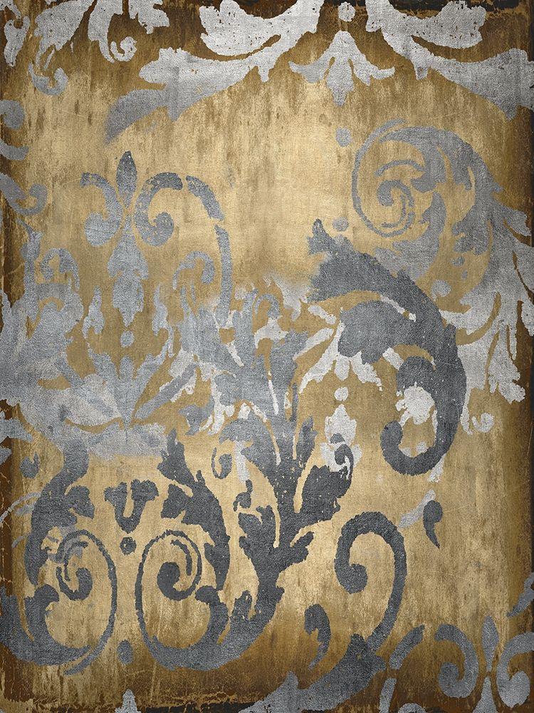 konfigurieren des Kunstdrucks in Wunschgröße Damask in Gold I von Roberts, Ellie