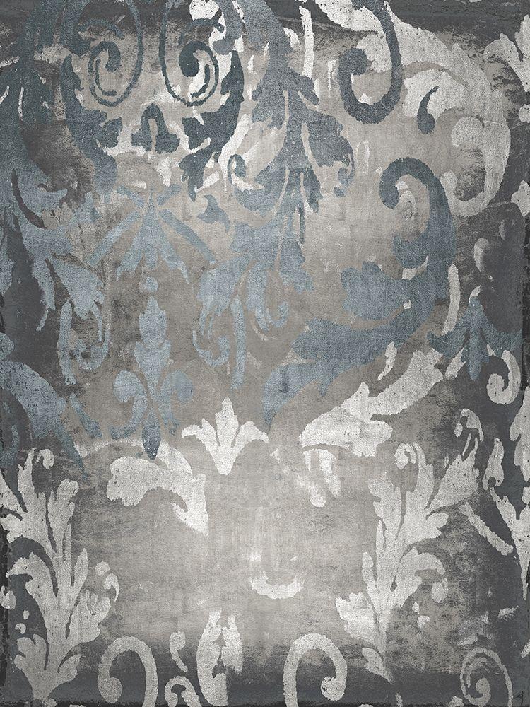 konfigurieren des Kunstdrucks in Wunschgröße Damask in Silver I von Roberts, Ellie