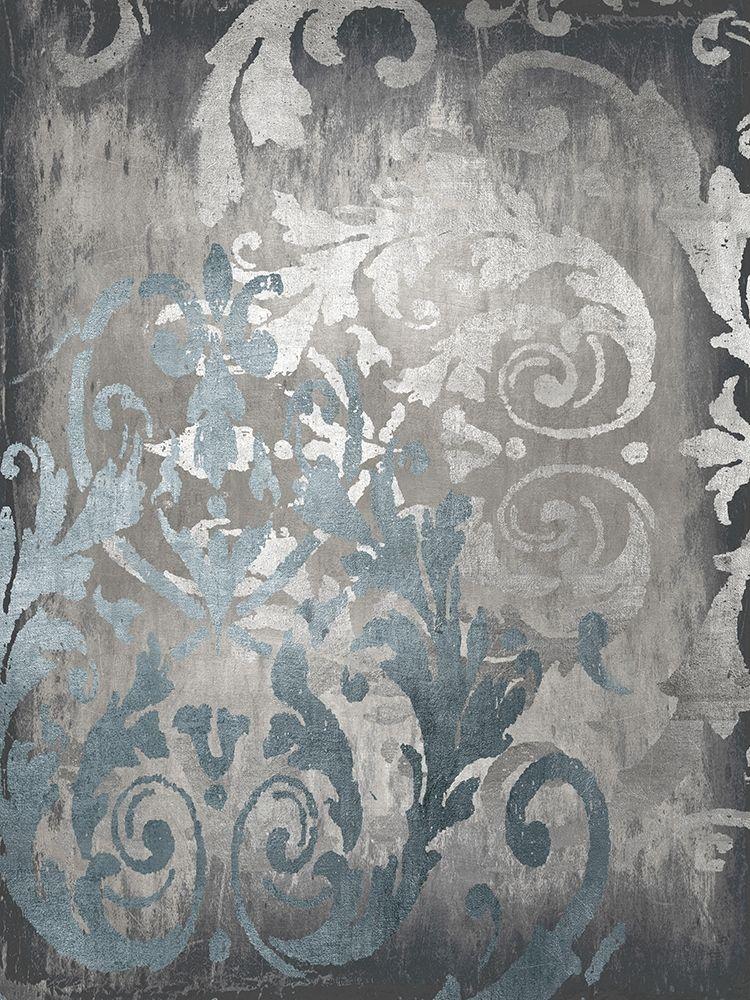 konfigurieren des Kunstdrucks in Wunschgröße Damask in Silver II von Roberts, Ellie