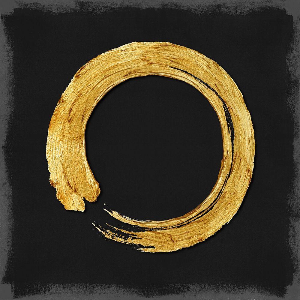 konfigurieren des Kunstdrucks in Wunschgröße Gold Zen Circle on Black I von Roberts, Ellie