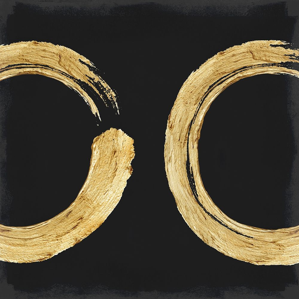 konfigurieren des Kunstdrucks in Wunschgröße Gold Zen Circle on Black II von Roberts, Ellie