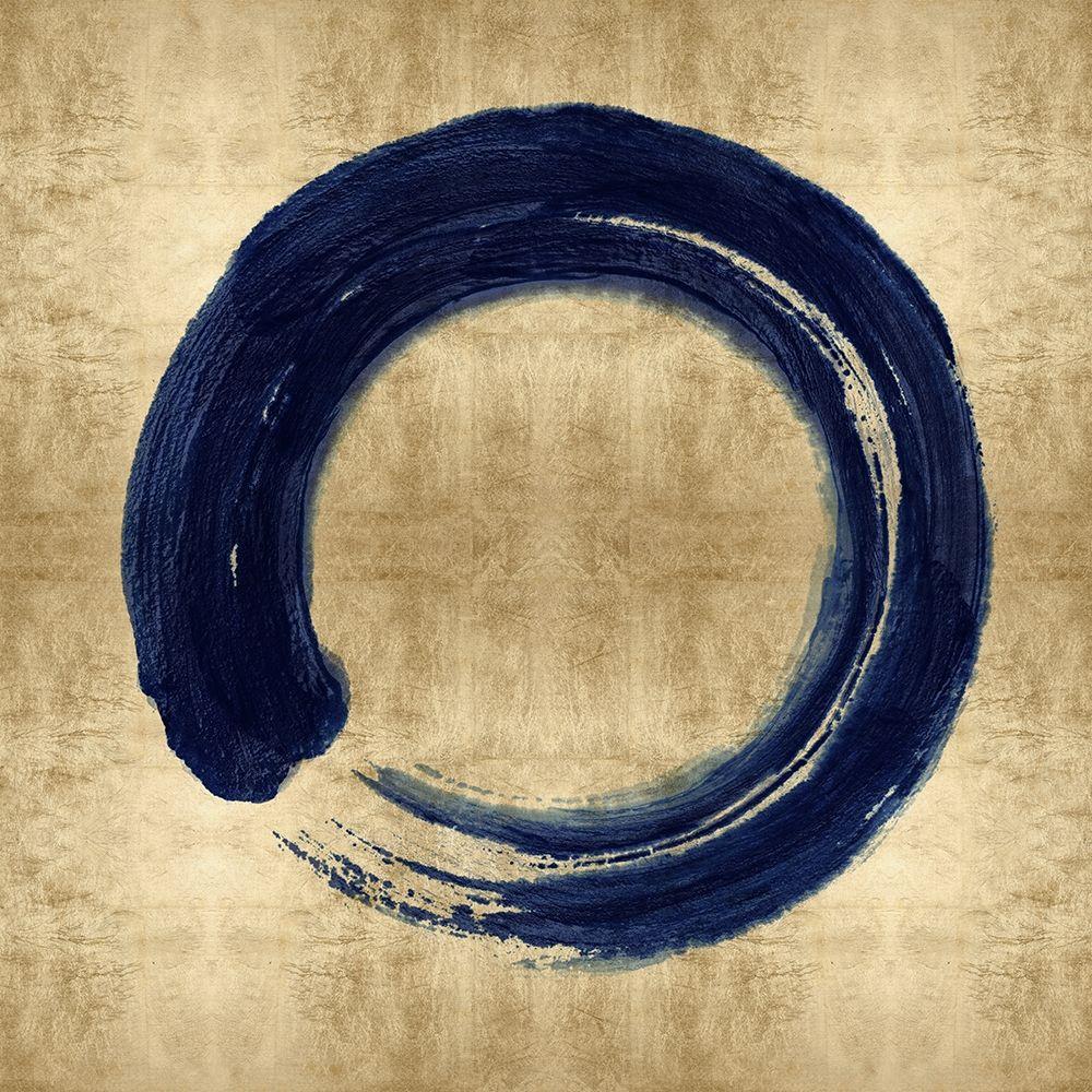 konfigurieren des Kunstdrucks in Wunschgröße Blue Zen Circle on Gold I von Roberts, Ellie