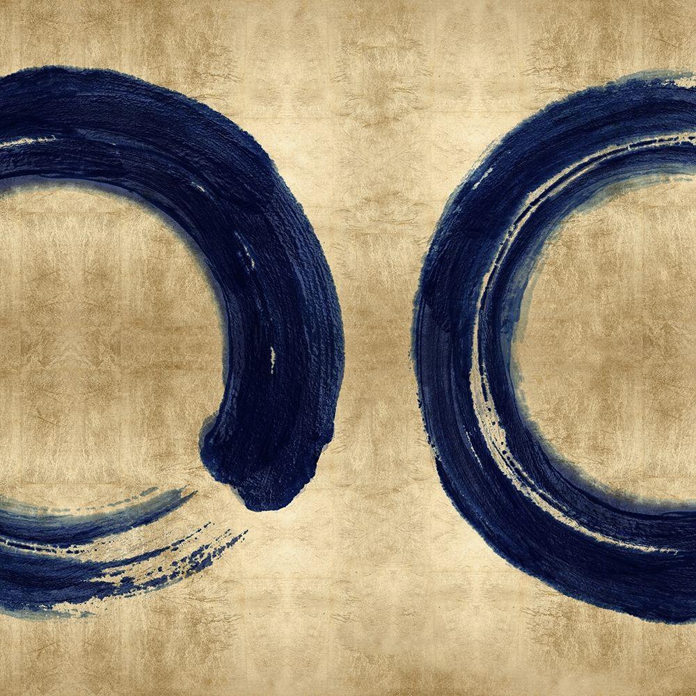 konfigurieren des Kunstdrucks in Wunschgröße Blue Zen Circle on Gold II von Roberts, Ellie