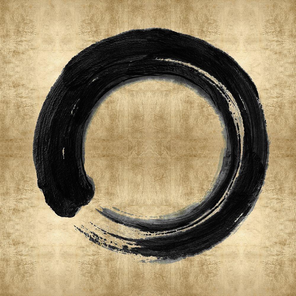 konfigurieren des Kunstdrucks in Wunschgröße Black Zen Circle on Gold I von Roberts, Ellie