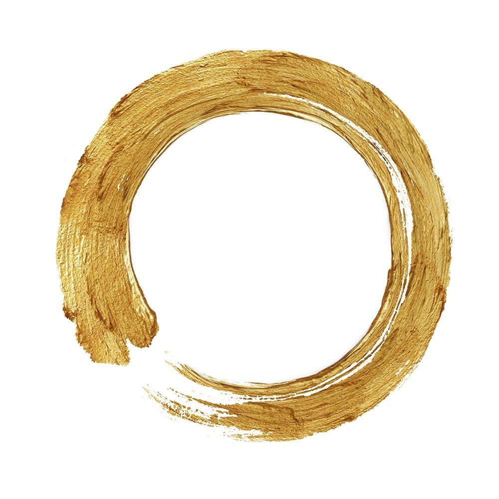 konfigurieren des Kunstdrucks in Wunschgröße Gold Zen Circle on White I von Roberts, Ellie