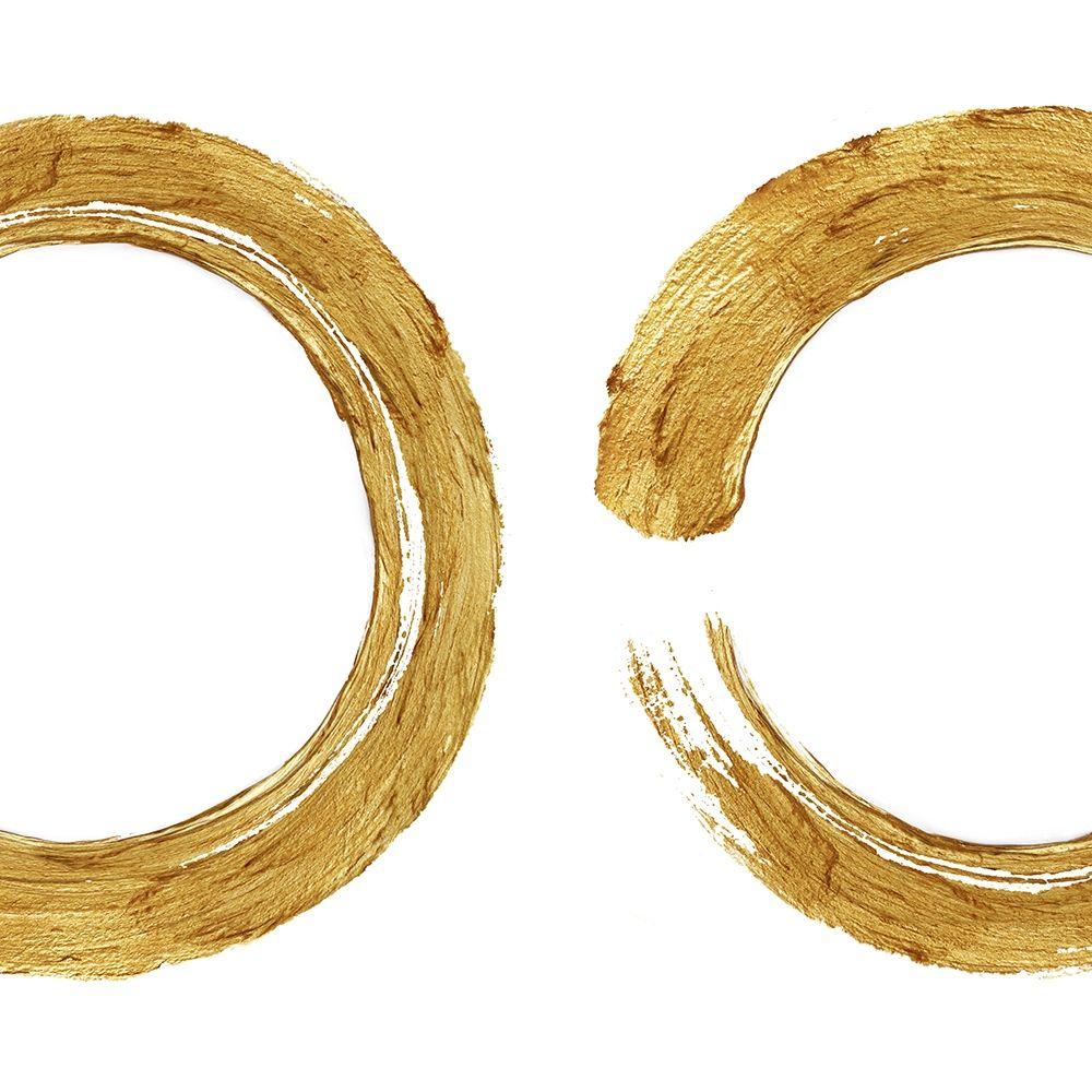 konfigurieren des Kunstdrucks in Wunschgröße Gold Zen Circle on White II von Roberts, Ellie
