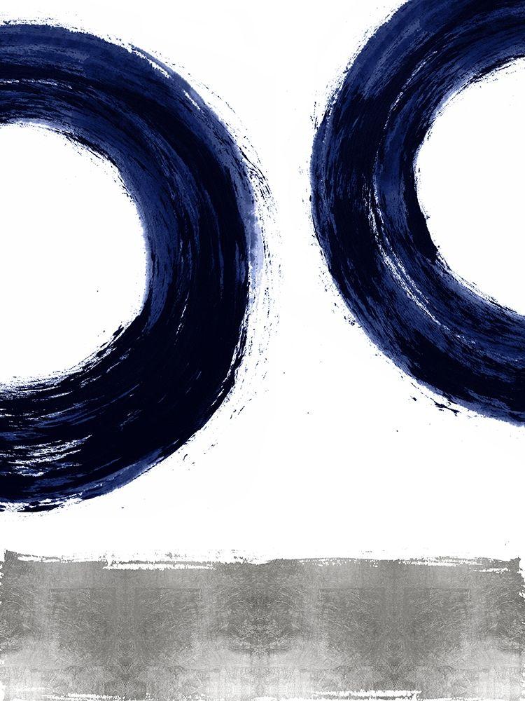 konfigurieren des Kunstdrucks in Wunschgröße Gravitate Blue II von Roberts, Ellie