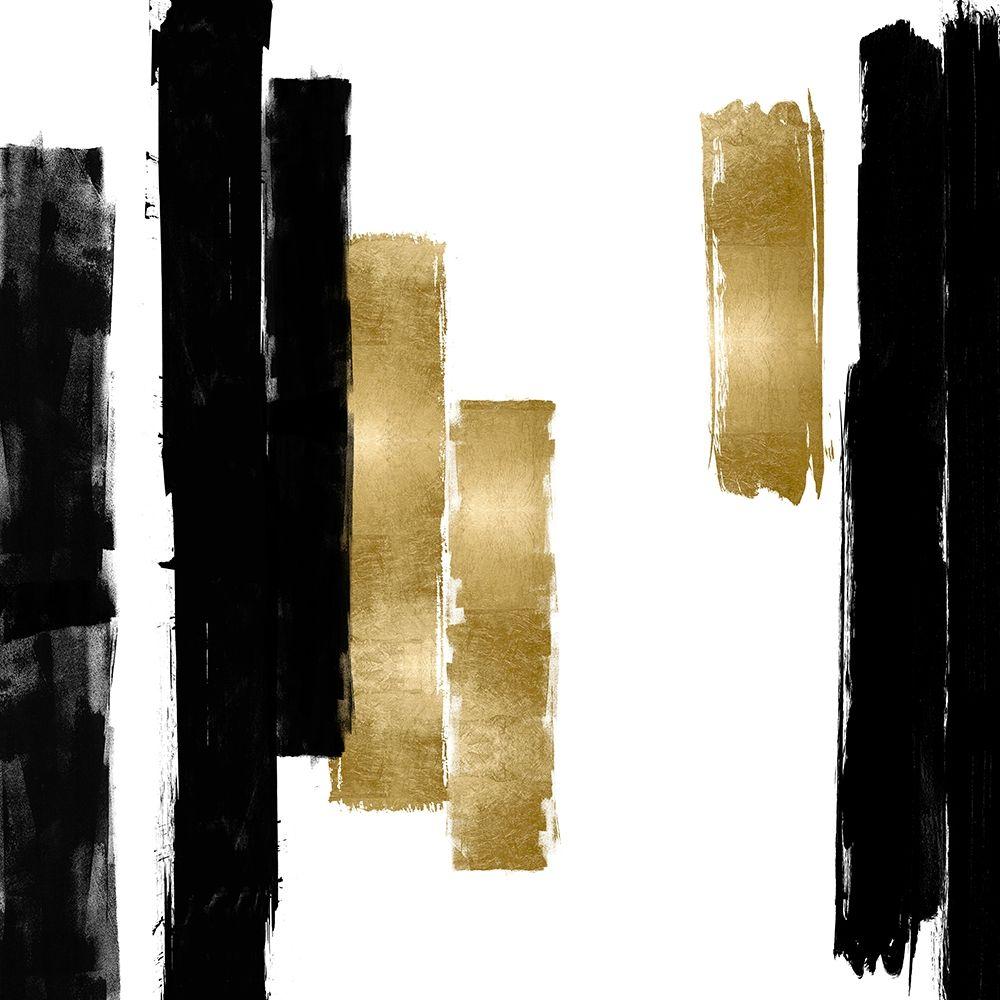 konfigurieren des Kunstdrucks in Wunschgröße Vertical Black and Gold I von Roberts, Ellie