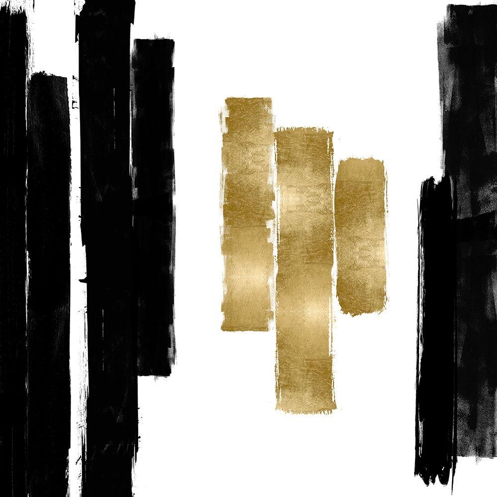 konfigurieren des Kunstdrucks in Wunschgröße Vertical Black and Gold II von Roberts, Ellie