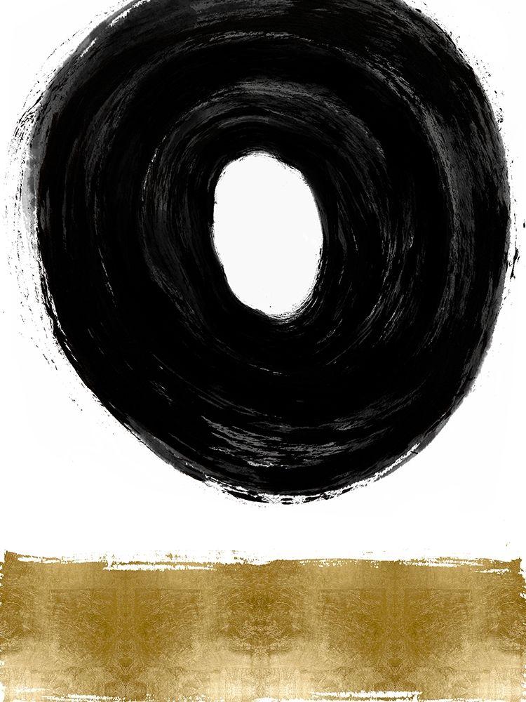 konfigurieren des Kunstdrucks in Wunschgröße Glide Black and Gold II von Roberts, Ellie