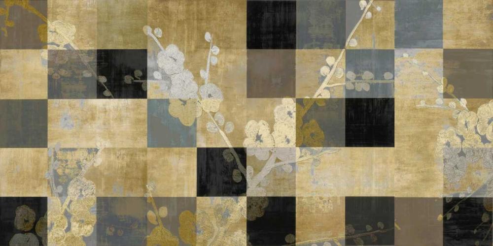 konfigurieren des Kunstdrucks in Wunschgröße Blossoms In Gold von Lange, Erin